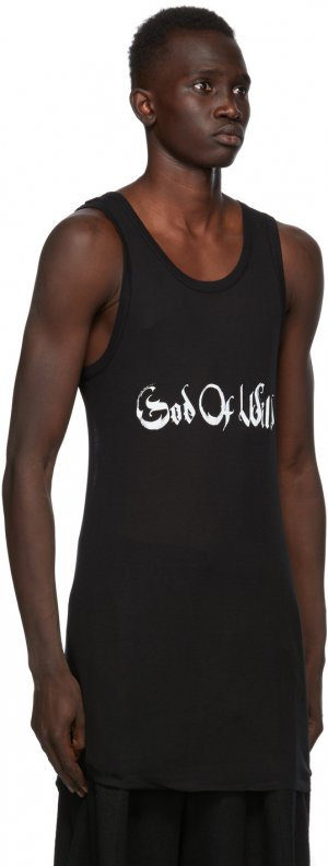 SSENSE Exclusive Black God of Wild Chic Tank Top Ann Demeulemeester. Цвет: 099 black