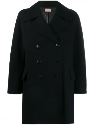 Короткое двубортное пальто Alaïa Pre-Owned. Цвет: синий