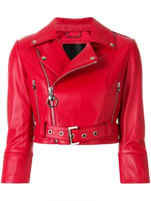 Байкерская куртка Carolyn Flynn Philipp Plein. Цвет: красный