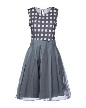 Короткое платье EGGS. Цвет: серый