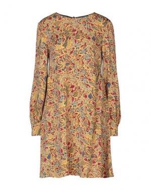 Короткое платье ATTIC AND BARN. Цвет: охра