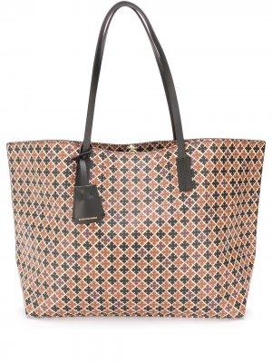 Graphic print tote bag By Malene Birger. Цвет: коричневый