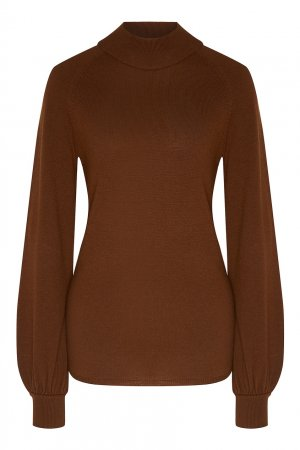 Коричневый пуловер с рукавами реглан Akhmadullina DREAMS. Цвет: хаки