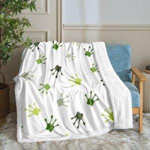 Одеяло из флиса с принтом когтя SHEIN. Цвет: многоцветный