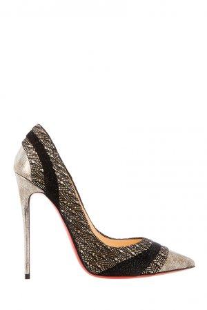 Серебристые туфли Eklectica 120 Christian Louboutin. Цвет: multicolor