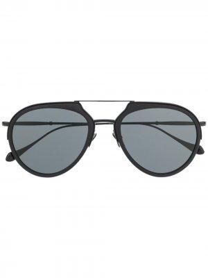 Солнцезащитные очки в шестиугольной оправе Giorgio Armani. Цвет: черный