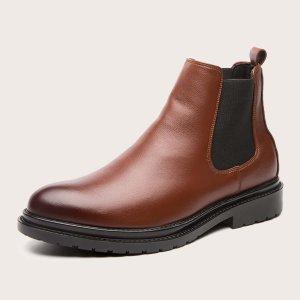 Мужские ботинки-челси SHEIN. Цвет: коричневые