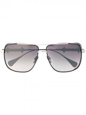 Массивные солнцезащитные очки Chivalry в квадратной оправе EQUE.M. Цвет: серебристый