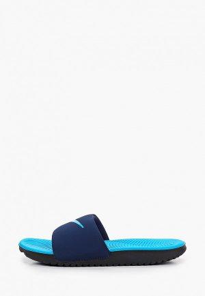 Сланцы Nike KAWA SLIDE (GS/PS). Цвет: синий