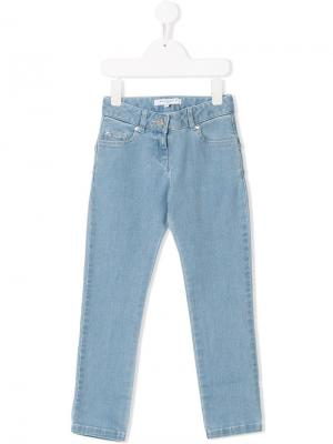 Star patches skinny jeans Givenchy Kids. Цвет: синий