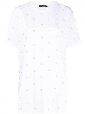 Декорированная футболка Amen. Цвет: белый