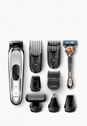 Набор Braun Триммер + Бритва Gillette Fusion 5 ProGlide. Цвет: серый