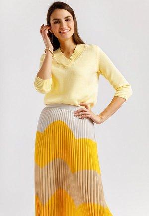 Пуловер Finn Flare. Цвет: желтый