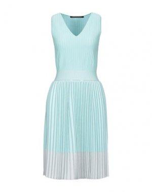Короткое платье ANTONINO VALENTI. Цвет: бирюзовый