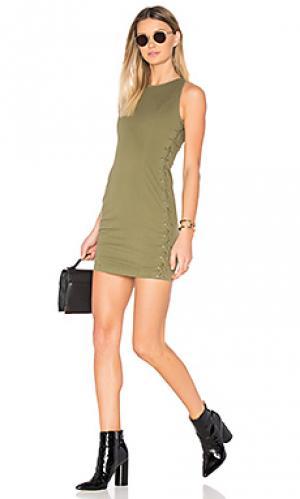 Мини платье valera A.L.C.. Цвет: зеленый