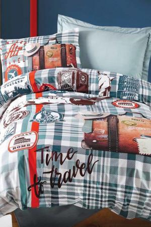 Комплект постельного белья Cotton box. Цвет: mint, red, white