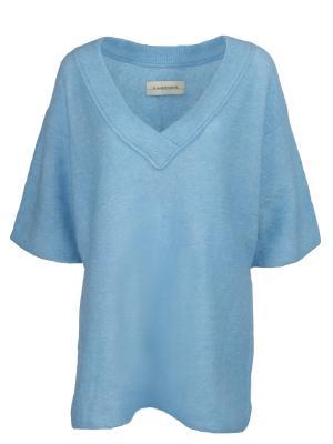 Однотонный пуловер BY MALENE BIRGER. Цвет: голубой