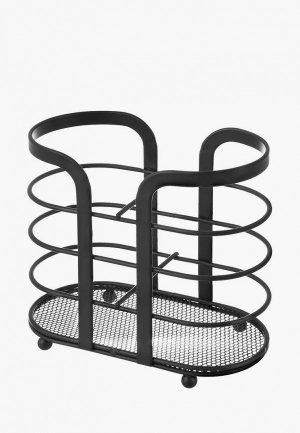 Органайзер для столовых приборов El Casa 16х8,5х14,5 см. Цвет: черный