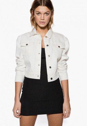 Куртка джинсовая Ivyrevel. Цвет: белый