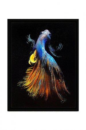 Картина-репродукция Рыбка 1 Декарт. Цвет: черный, голубой, желтый