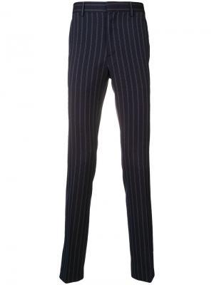 Классические брюки в тонкую полоску Calvin Klein 205W39nyc. Цвет: синий