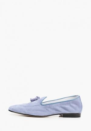 Лоферы HCS. Цвет: голубой