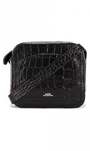Сумка через плечо sac louisette A.P.C.. Цвет: черный