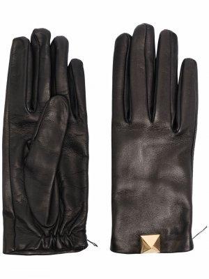 Перчатки Roman Stud Valentino Garavani. Цвет: черный