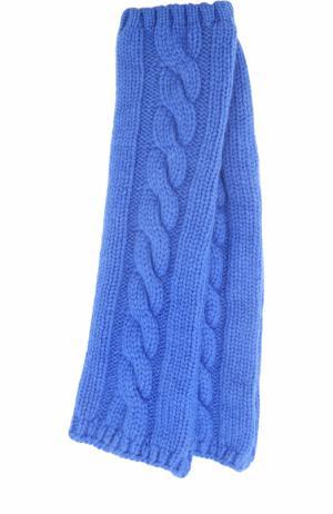 Вязаные митенки из кашемира Kashja` Cashmere. Цвет: синий