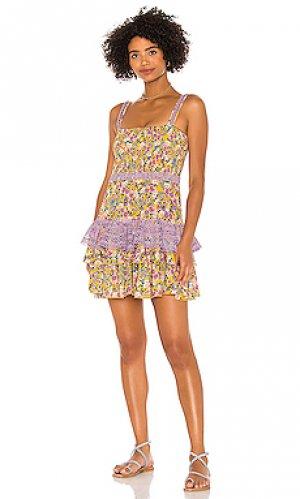 Мини платье celia Charo Ruiz Ibiza. Цвет: желтый