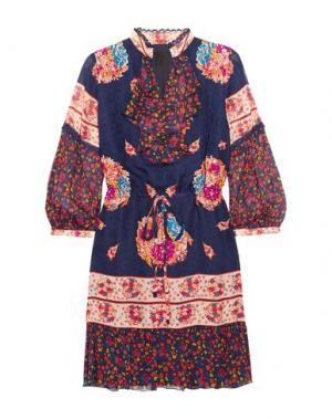 Короткое платье ANNA SUI. Цвет: темно-синий
