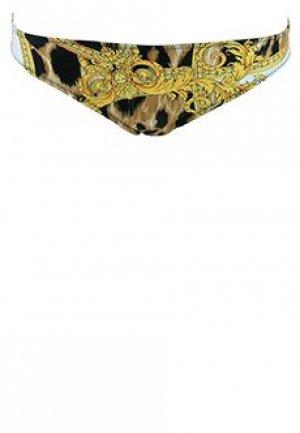 Плавки VERSACE. Цвет: леопардовый