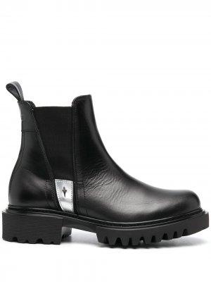 Ботинки с эффектом металлик Cesare Paciotti. Цвет: черный