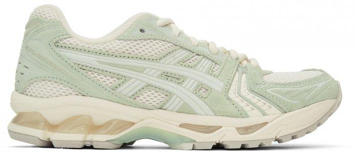 Green & Off-White Gel-Kayano 14 Sneakers Asics. Цвет: white blue