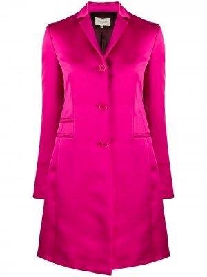 Пальто миди 1990-х годов Romeo Gigli Pre-Owned. Цвет: розовый