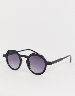 Черные солнцезащитные очки-авиаторы AJ Morgan. Цвет: черный
