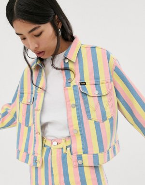 Джинсовая куртка в полоску -Мульти Wrangler