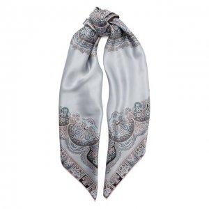 Шелковый платок Michele Binda. Цвет: серый