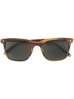 Солнцезащитные очки Travis Moscot. Цвет: телесный
