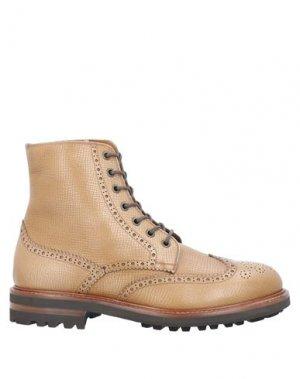 Полусапоги и высокие ботинки BRUNELLO CUCINELLI. Цвет: верблюжий