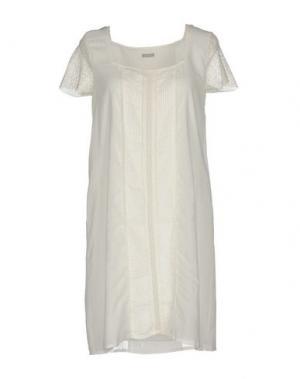 Короткое платье ALPHA STUDIO. Цвет: белый