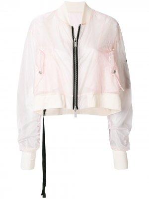 Укороченная куртка-бомбер UNRAVEL PROJECT. Цвет: розовый