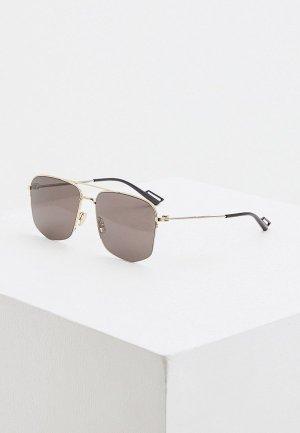 Очки солнцезащитные Christian Dior Homme DIOR180 RHL. Цвет: золотой