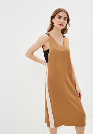 Сарафан Sisley. Цвет: коричневый