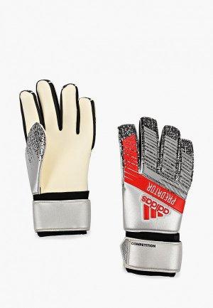 Перчатки вратарские adidas PRED COMP. Цвет: серебряный