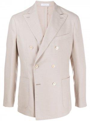 Двубортный пиджак Boglioli. Цвет: нейтральные цвета