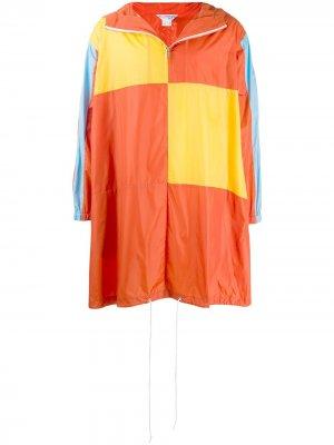 Дождевик в стиле колор-блок Comme Des Garçons Shirt. Цвет: оранжевый