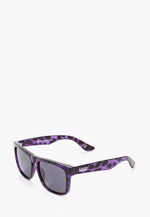 Очки солнцезащитные Vans. Цвет: фиолетовый