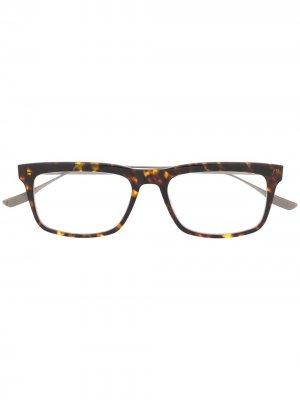 Солнцезащитные очки Staklo в прямоугольной оправе Dita Eyewear. Цвет: коричневый