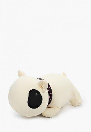 Подушка декоративная Gekoko Белый Бим Черный Глаз. Цвет: белый